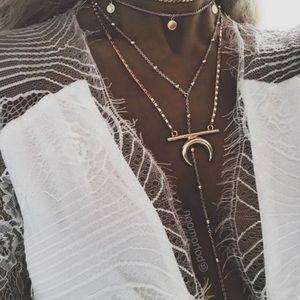Multi-Layered Bohemian Moon Wafer Story Necklace